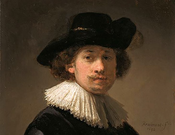 Autoportrait Rembrandt 1632