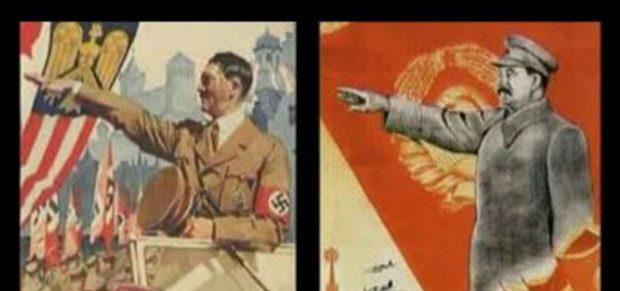 Hitler, Staline, iaffiches de propagande des différents régimes