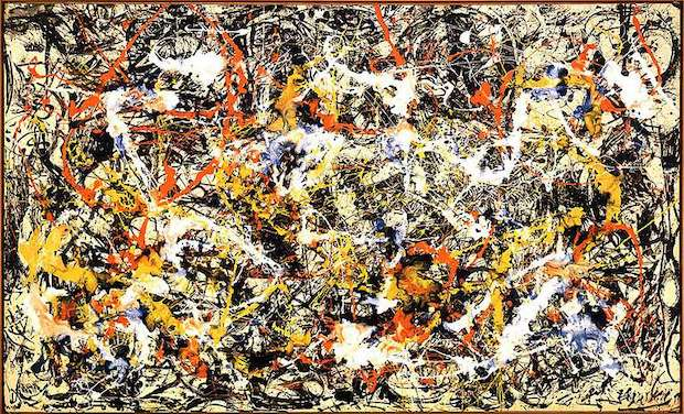 Action painting-guerre froide-Jackson Pollock