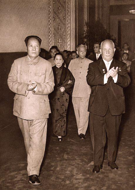 Mao Zedong et Khrushchev