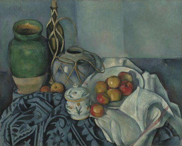 Paul Cézanne-Nature morte avec pommes