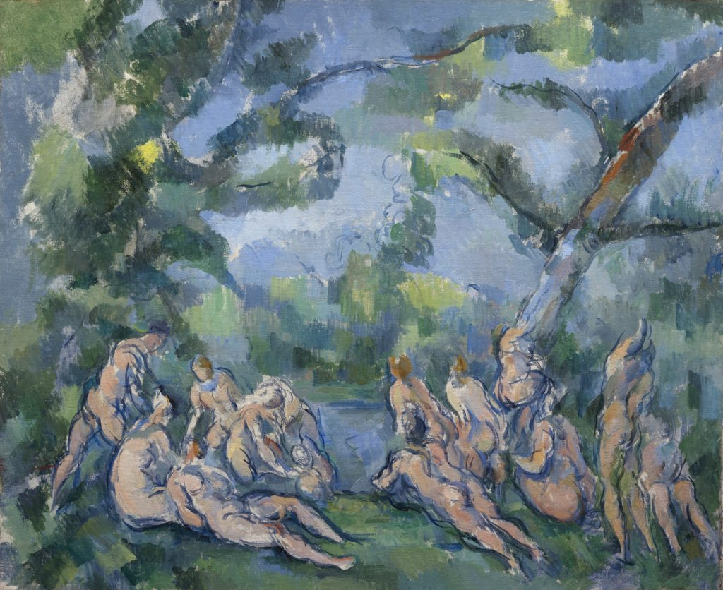Paul Cézanne-Les Baigneuses