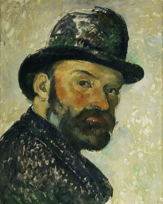 Paul Cézanne-Cézanne au chapeau melon