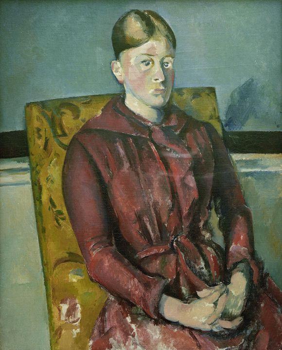 Paul Cézanne-Madame Cézanne au fauteuil jaune