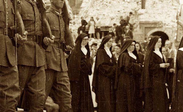 Les Soviétiques en 1945 en Pologne-massacre de religieuses