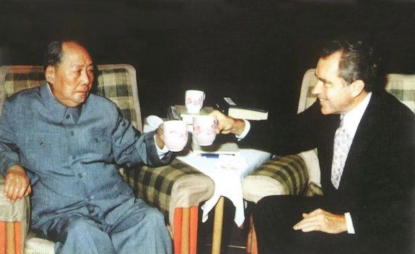 President Richard Nixon meets Chinese Chairman Mao Zedong