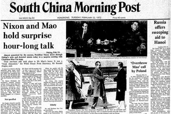 Relations between China and the USA-Nixon and Mao