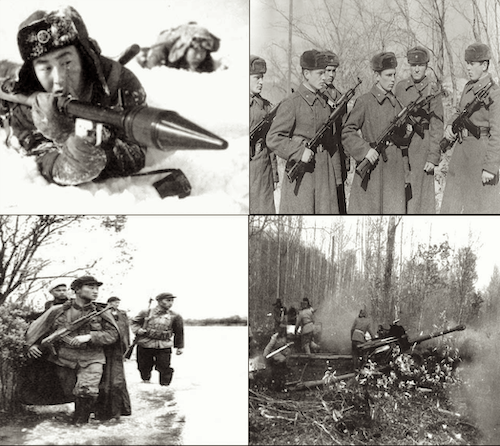 Chinese army opposed to USSR Red Army